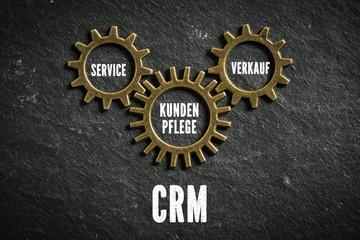 CRM - Customer Relationship Management - aus Komponenten Service, Kundenpflege und Verkauf