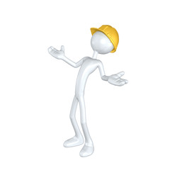 The Original 3D Character Illustration Construction Worker