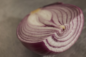 half of a peeled Bermuda Onion, sometimes called a Bombay Onion