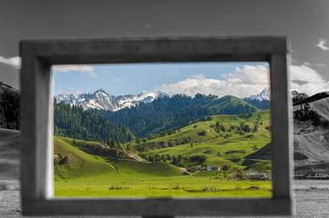 Scenery of grassland, Xinjiang of China