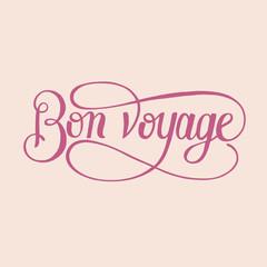 Illustration of bon voyage isolated on background