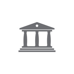 Museum building icon. Simple element illustration. Museum building symbol design template. Can be used for web and mobile