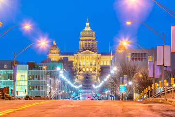 Fototapete - State Capitol in Des Moines, Iowa