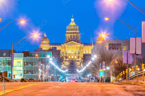 Wall mural State Capitol in Des Moines, Iowa