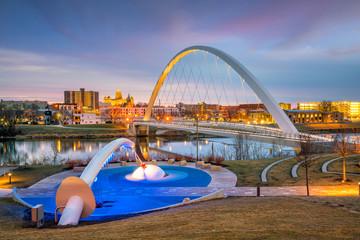 Photo sur Plexiglas Etats-Unis Des Moines Iowa skyline in USA