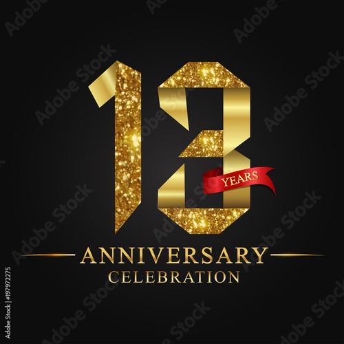 Anniversary Aniversary 13 Years Anniversary Celebration Logotype