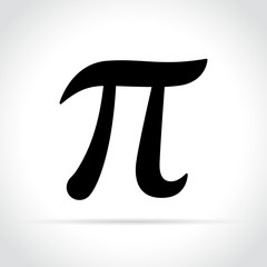 pi symbol on white background