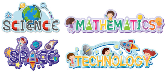 Logo design for school subjects