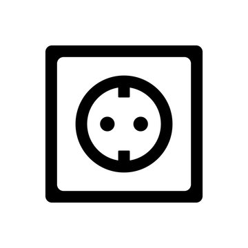 socket plug icon isolated vector, outline vector