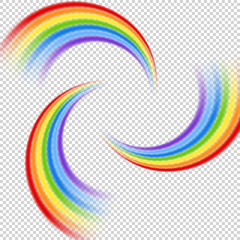 Rainbow pattern on transparent background