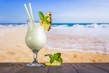 In de dag Cocktail Cold pina colada cocktail
