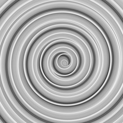 White twisted spiral shape abstract 3D render