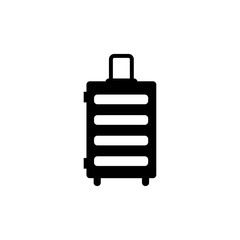 Travel Bag. Trip Handbag. Flat Vector Icon. Simple black symbol on white background