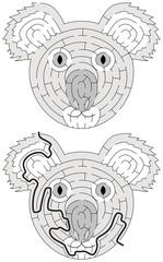 Easy koala maze