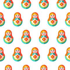 Seamless pattern. Russian souvenir. Vector illustration.