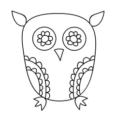 vector, isolated cute owl, character book coloring