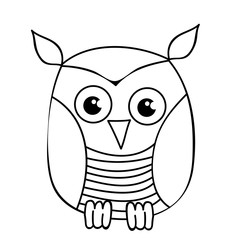 cute owl, character book coloring