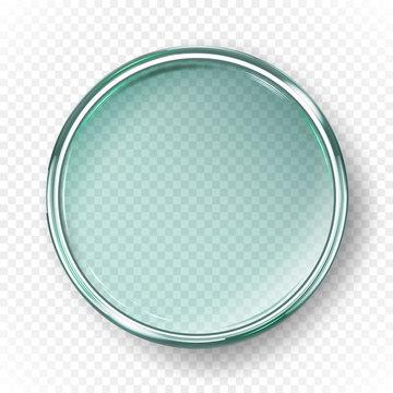 Empty petri dish isolated on transparent background