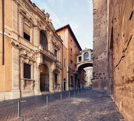 Fotomurales - old architecture of Rome, Italy.
