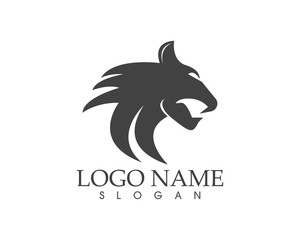 Puma head logo design vector illustration