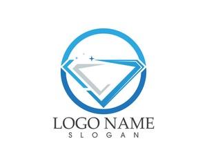 Blue diamond logo design concept