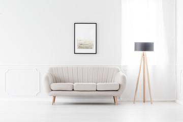 Sofa in empty white interior