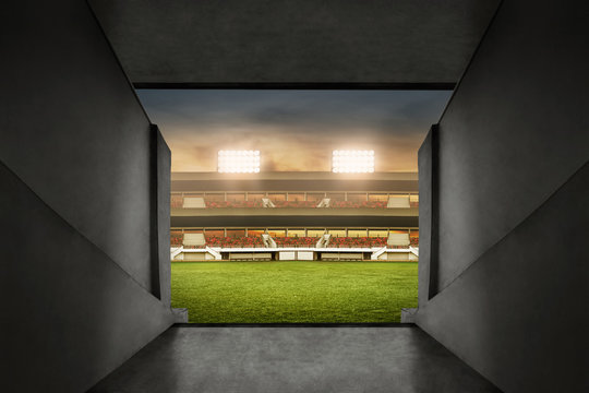 Soccer stadium entrance