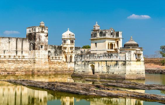 Maharani Shri Padmini Mahal, a palace at Chittorgarh Fort. UNESCO world heritage in Rajastan, India