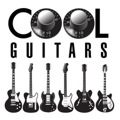 Cool guitar graphic with lots of guitars. Use as guitar event design for flyer, poster, invitation