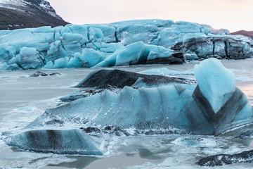 beautiful scenic glacial landscape, Svinafellsjokull Glacier, Iceland
