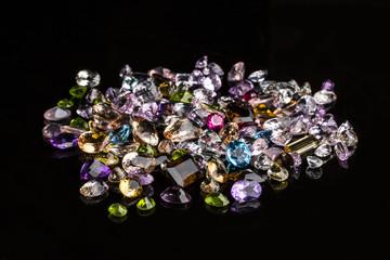 crystal stone gem purple mineral specimen