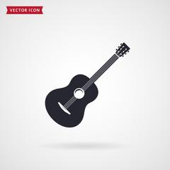 Guitar icon. Vector.
