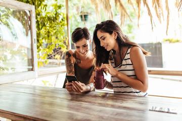 Women sitting at a restaurant