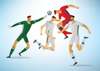 Illustration of soccer players 03