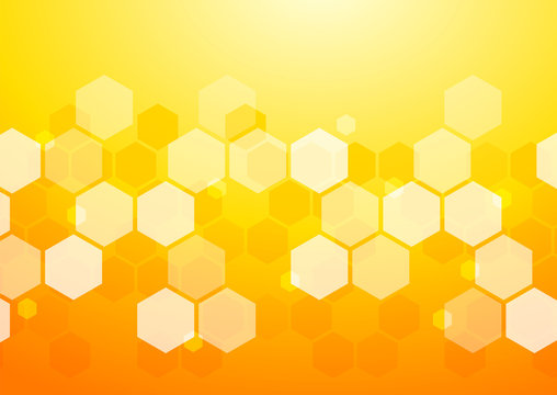 Abstract Orange Background_Honeycomb Structure #Vector Graphics