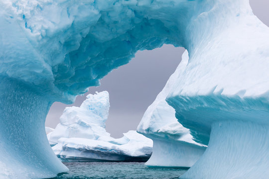 .Ice Formation in Antarctica. Just beyond the Gerlache Straits is where this Ice Garden exists