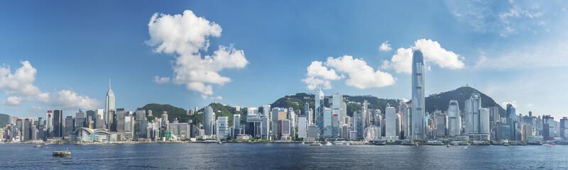 Panorama of Victoria Harbor of Hong Kong city Fotomurales