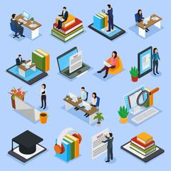 Online Education Isometric Icons