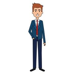 elegant businessman avatar character