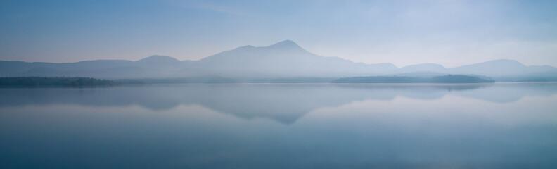 Landscape of mountain panorama