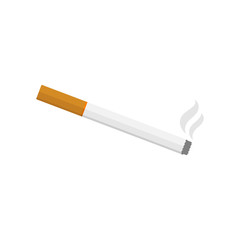cigarette smoke, flat vector icon