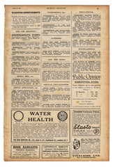 Used paper page english text advertising Vintage newspaper