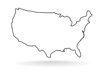 USA line icon