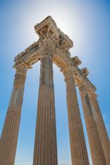 ancient roman ruins of Apollo temple in Side, Turkey