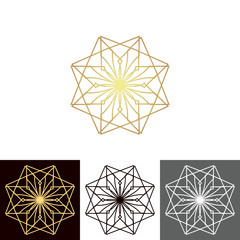 A set of ancient geometric linear figures, for decorating your own design.