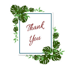 thank you tropical greenery card
