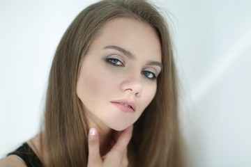 closeup. photo of an attractive young woman
