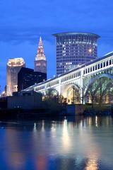 Downtown skyline, Cleveland, Ohio, USA