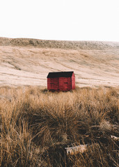 lonely looking shed in the middle of nowhere