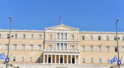 Greek Parliament building, Syntagma Square, Athens, Central Athens, Attica Region, Greece